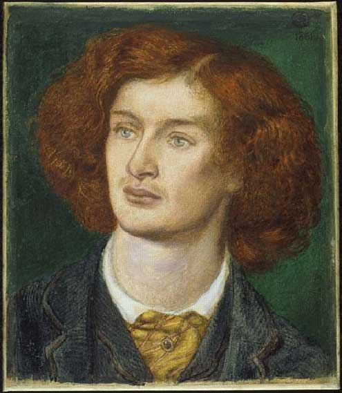 Algernon Charles Swinburne, 1862 - Dante Gabriel Rossetti