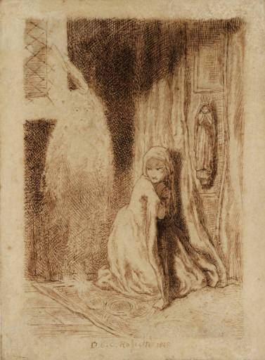 Faust. Margaret in the Church, 1848