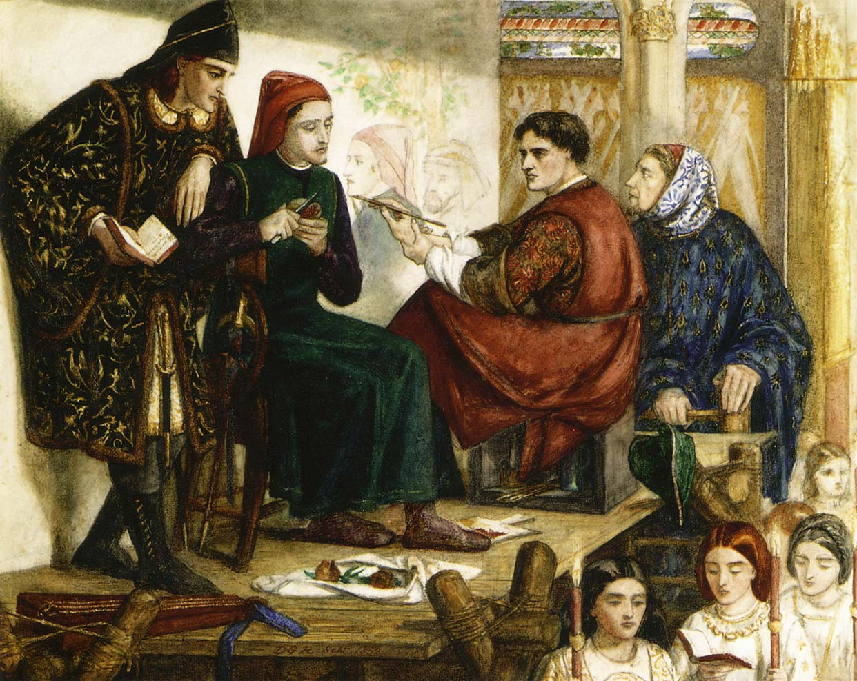 Giotto Painting the Portrait of Dante, 1852