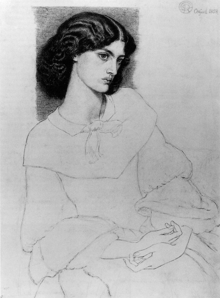 Jane Burden, aged 18, 1858