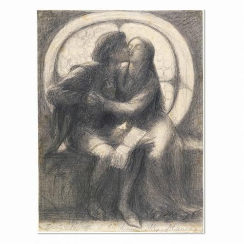 Paolo and Francesca - Dante Gabriel Rossetti