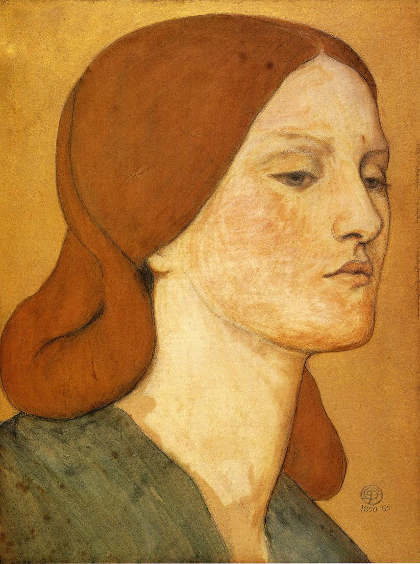 Portrait of Elizabeth Siddal, 1850-1865