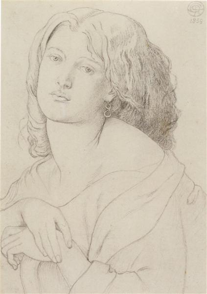 Portrait of Fanny Cornforth - Dante Gabriel Rossetti