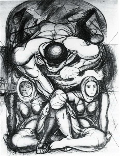 Allegory of Racial Equality, 1943 - David Alfaro Siqueiros