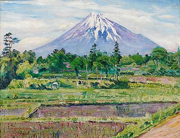 Mount Fuji, 1922 - David Burliuk