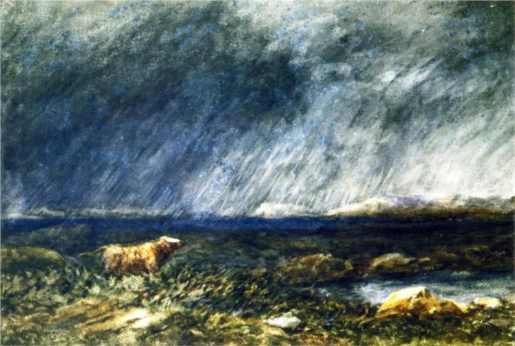 On the Moors, near Bettws-y-Coed, 1853 - David Cox