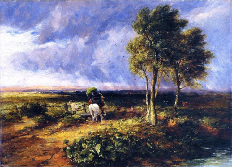 Wind Rain And Sunshine 1845 David Cox Wikiart Org