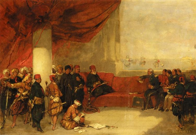 Interview with the Viceroy of Egypt at His Palace in Alexandria, 1849 - David Roberts