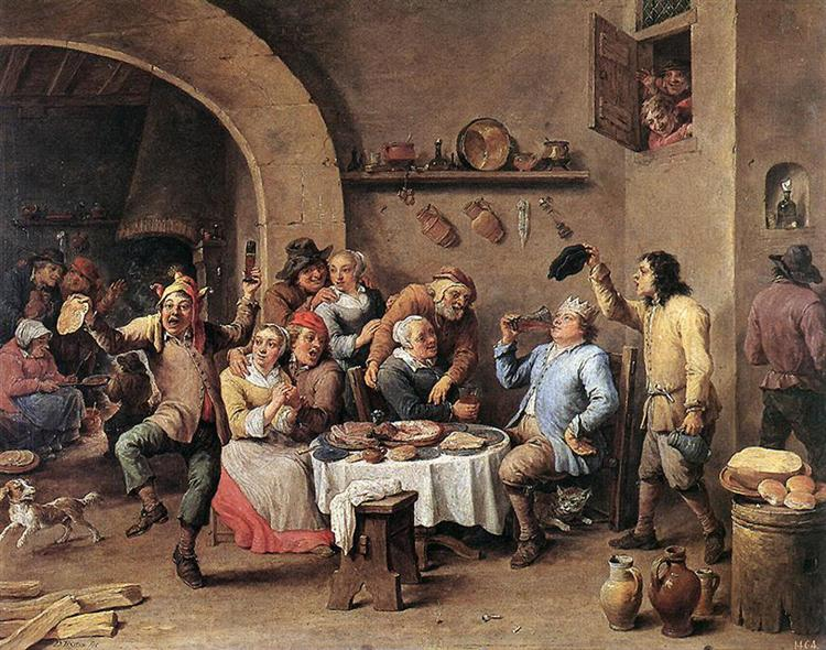 Carnival: 'The King Drinks', 1690 - David Teniers the Younger