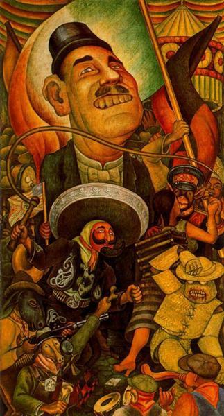 Carnival of Mexican Life. Dictatorship, 1936 - Диего Ривера