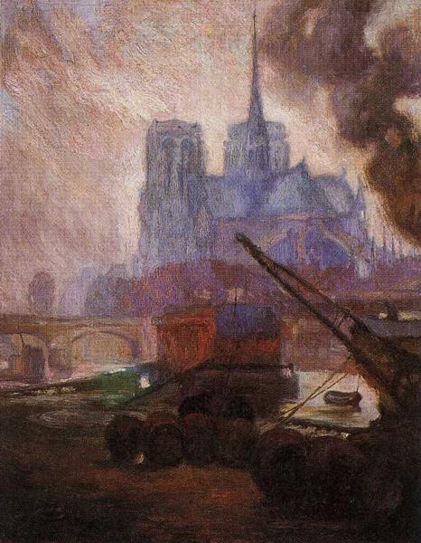 Notre Dame de Paris, 1909 - Diego Rivera