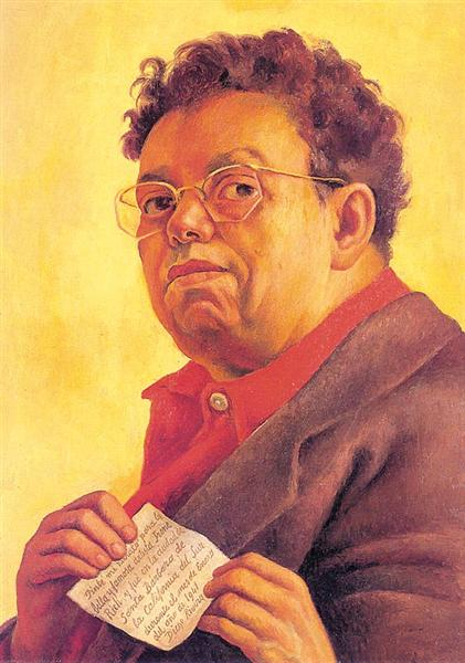 Self-Portrait Dedicated to Irene Rich - Diego Rivera