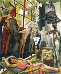 The Painter's Studio - Diego Rivera
