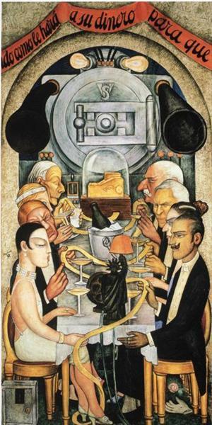 Wall Street Banquet, 1928 - Diego Rivera