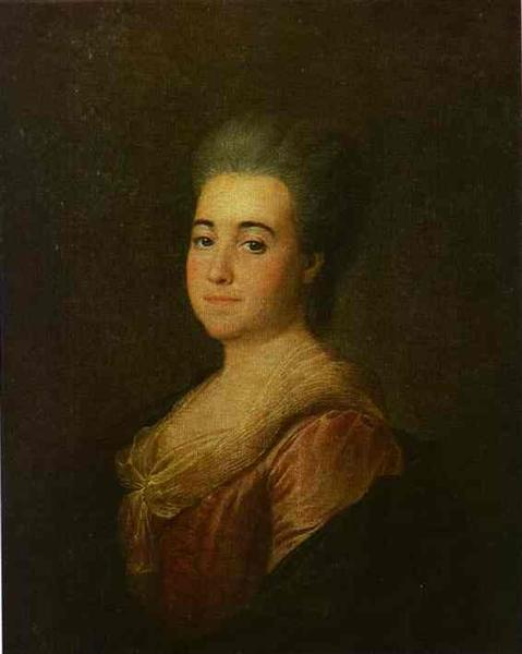 Portrait of an Unknown Lady in a Pink Dress, 1774 - Dmitry Levitzky