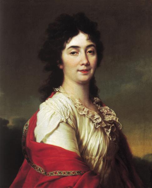 Portrait of Anna Stepanovna Protassova, the former maid of honor of Catherine II, 1800 - Dmitry Levitzky
