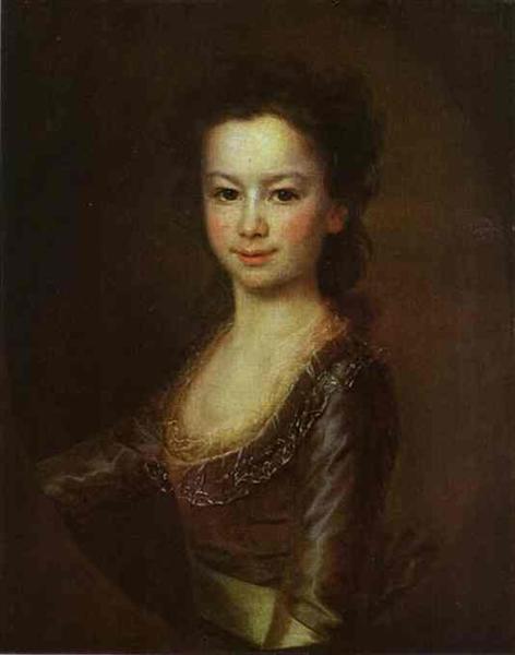 Portrait of Countess Maria Vorontsova as a Child, c.1790 - Dmitry Levitzky
