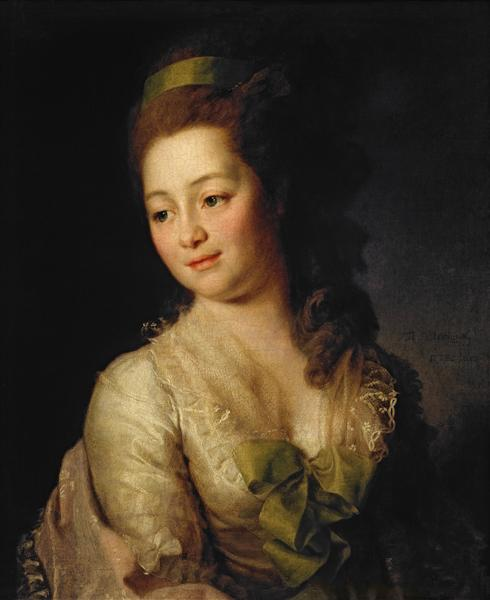 Portrait of Maria Dyakova - Dmitry Levitzky