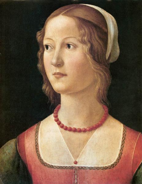 Portrait of a Young Woman, c.1490 - Domenico Ghirlandaio