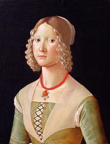 Portrait of Giovane Donna, c.1487 - c.1488 - Domenico Ghirlandaio