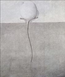 Souris Blanche sur la nappe - Domenico Gnoli