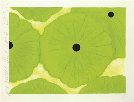 Six Greens, 2006 - Donald Sultan