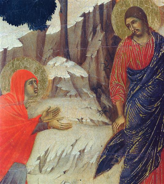 Christ Appearing to Mary Magdalene (Fragment), 1308 - 1311 - Duccio