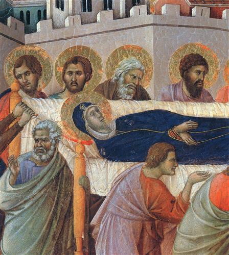 The death of Mary (Fragment)  - Duccio