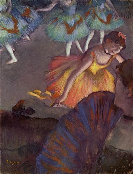 Балерина и дама с веером, 1885 - Эдгар Дега