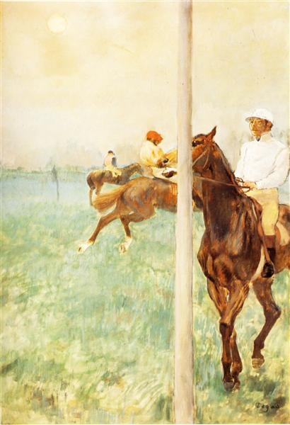 Jockeys before the Start with Flagpoll, 1879 - Edgar Degas
