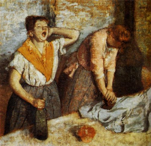 Laundry Girls Ironing - Edgar Degas