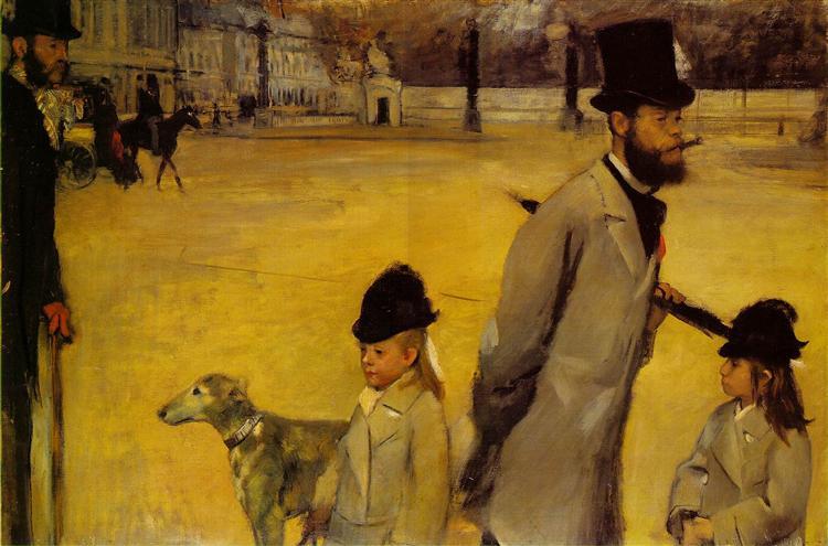 Place de la Concorde, 1875 - Edgar Degas