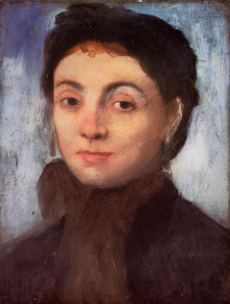 Portrait of Josephine Gaujelin - Edgar Degas - WikiArt.org