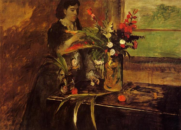 Portrait of Mme. Rene De Gas, born Estelle Musson, 1872 - 1873 - Edgar Degas