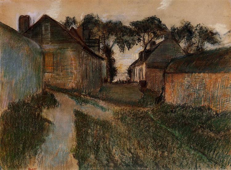 Rue Quesnoy, Saint-Valery-sur-Somme, c.1895 - c.1898 - Edgar Degas
