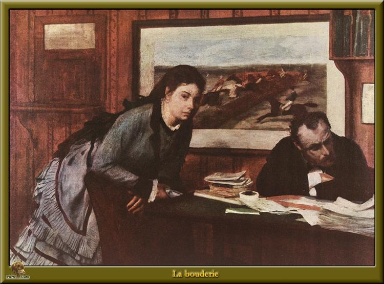 Sulking, c.1869 - Edgar Degas