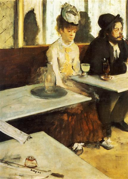 The Absinthe Drinker - Edgar Degas