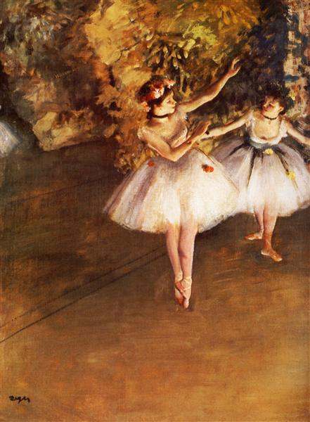 Two Dancers on Stage, 1877 - Edgar Degas