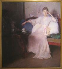 Arrangement in Pink and Gray (Afternoon Tea) - Edmund Charles Tarbell