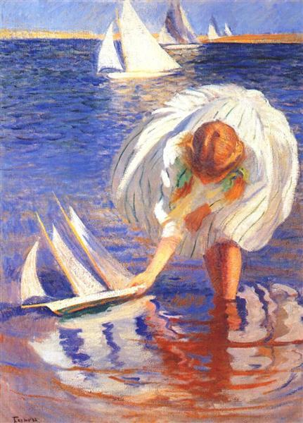 Girl with Sailboat, 1899 - Едмунд Чарльз Тарбелл