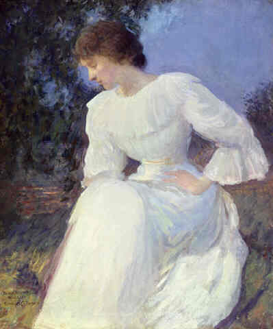 Portrait of a Woman in white, 1885 - 1890 - Edmund Charles Tarbell