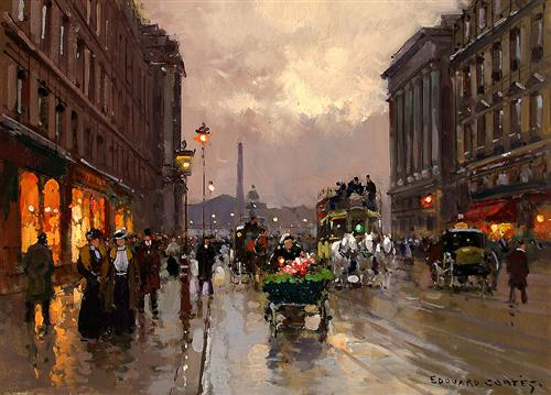 Concorde and Rue Royale - Edouard Cortes