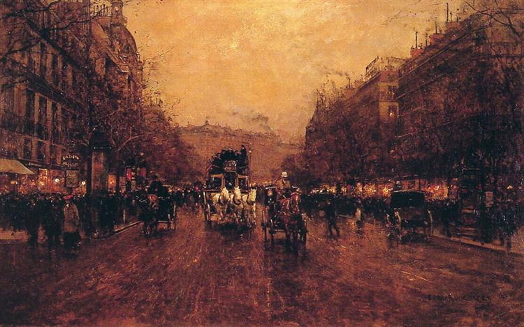 Paris Evening, 1905 - Edouard Cortes