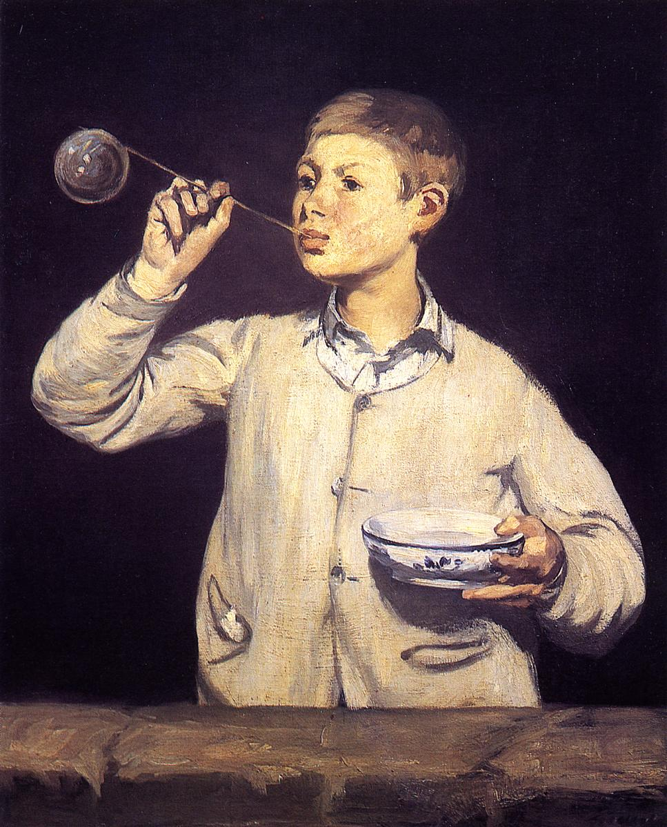 Boy Blowing Soap Bubbles Manet Boy Blowing Bubbles Edouard