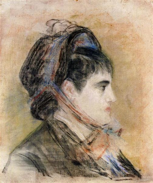 Madame Jeanne Martin in a bonnet, c.1881 - Edouard Manet