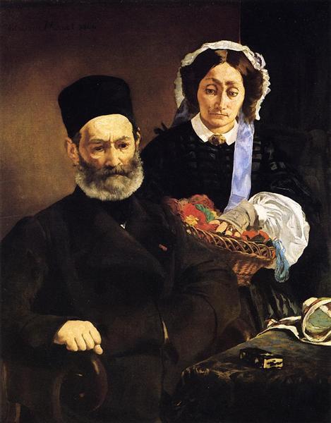 Portrait of Monsieur and Madame Auguste Manet, 1860 - Édouard Manet