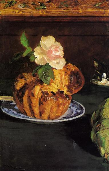 Still Life with Brioche, c.1880 - Edouard Manet