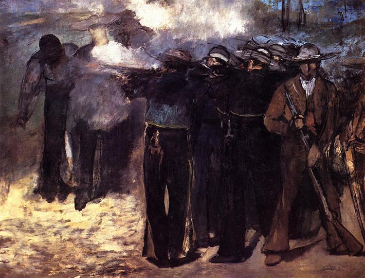 "Study for ""The Execution of Emperor Maximilian"", 1867 - Edouard Manet"