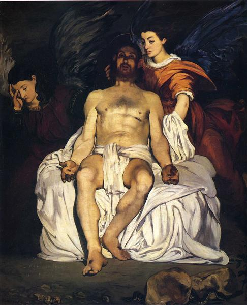 The Dead Christ with Angels, 1864 - Edouard Manet
