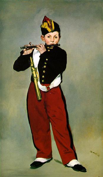 Флейтист, 1866 - Эдуард Мане